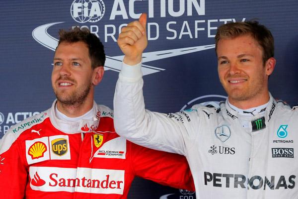 """Fórmula 1: Nico Rosberg logra la """"pole"""" en Sochi y Lewis Hamilton sufre un nuevo revés"""