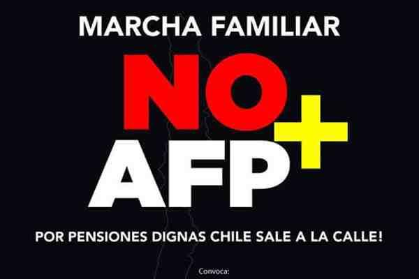 Este domingo se realizarán marchas contra las AFP en todo el país