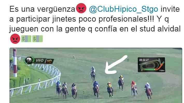 """Club Hípico le responde a Vidal y espera que su reacción haya sido """"algo del momento, en caliente"""""""