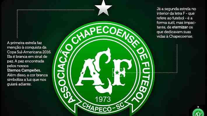 Chapecoense cambia su escudo para recordar a las víctimas del fatal accidente