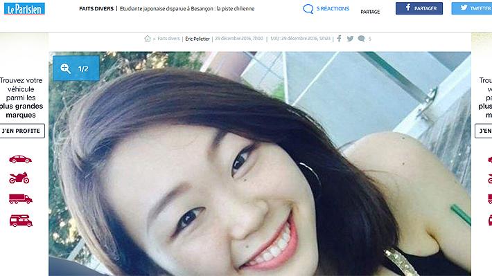Joven chileno es sospechoso de posible asesinato de estudiante japonesa en Francia