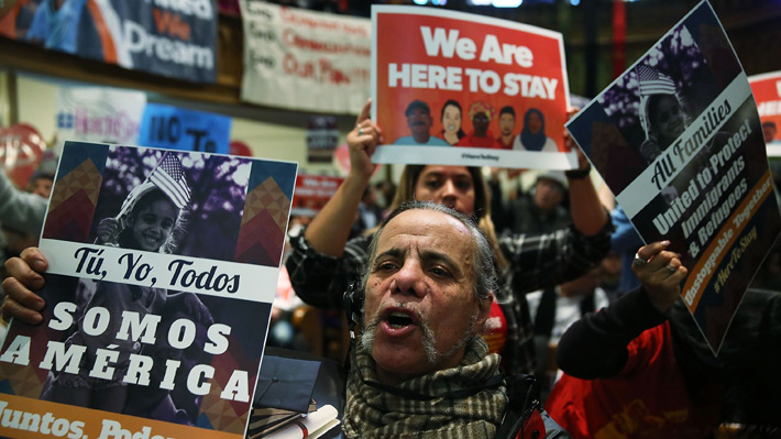 Miles de personas marchan en Washington contra política migratoria de Trump