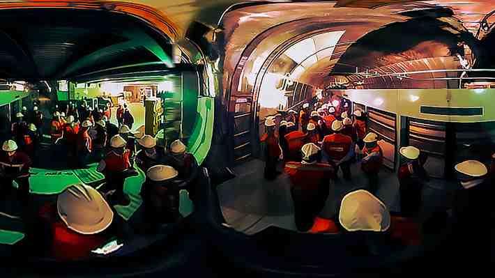 Mira en 360° como van las obras de la nueva línea 6 de Metro de Santiago