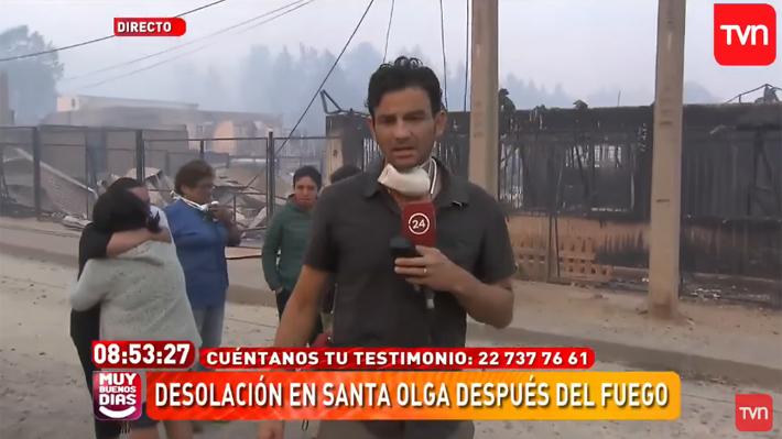 Del chascarro de Repenning al gesto de Gonzalo Ramírez: Los hitos de la cobertura televisiva de los incendios