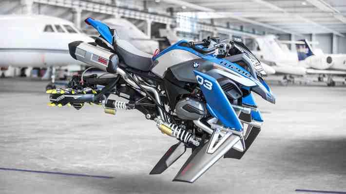 BMW creó una moto voladora