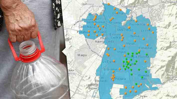 Interactivo: Qué comunas siguen afectadas por el corte de agua y cuáles son los puntos de abastecimiento