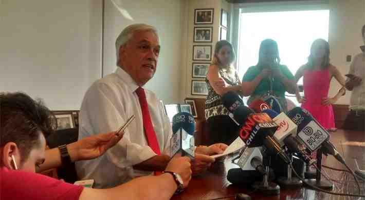 """Piñera acusa una """"campaña canallesca"""" para impedir su nueva candidatura a La Moneda"""