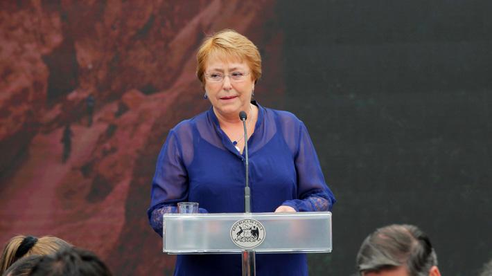Bachelet asegura que no