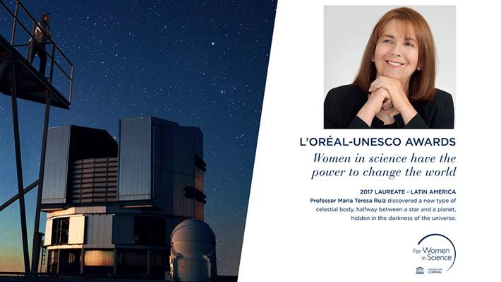 Aeropuerto de París celebra con gigantografía a astrónoma chilena