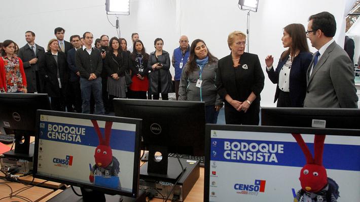 Presidenta Bachelet realiza positivo balance del Censo 2017: