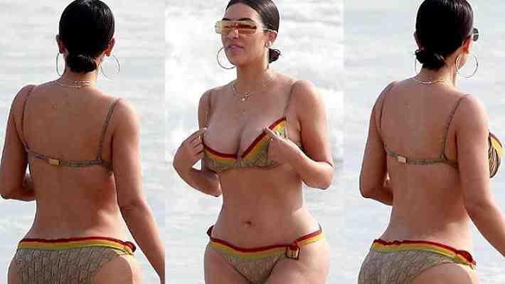 ¿Deberíamos celebrar la celulitis? Fotos sin retoques de Kim Kardashian en bikini causan debate