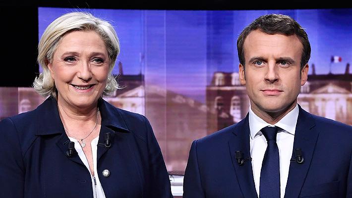 Las duras palabras que se intercambiaron Macron y Le Pen en el debate francés