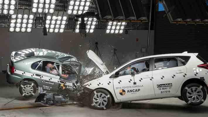 Toyota Corolla de 1998 vs 2015 ¿Cuál es más seguro?