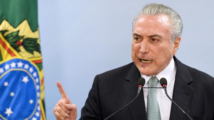 Temer asegura que probará su inocencia y descarta renunciar a la Presidencia de Brasil