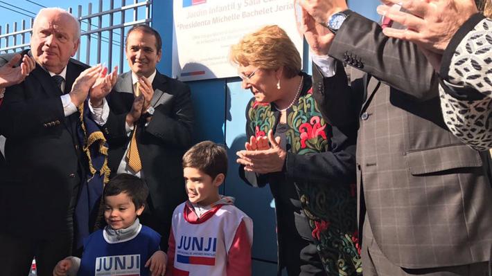 Presidenta Michelle Bachelet inaugura jardín infantil Presidenta Michelle Bachelet en Concepción