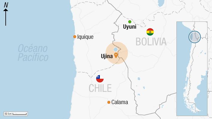 Revisa el lugar donde ocurrió el incidente que tiene a dos carabineros detenidos en Bolivia