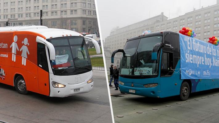 """""""Libertad"""", """"diversidad"""" e """"igualdad"""": Los buses se transforman en la nueva forma de protestar"""
