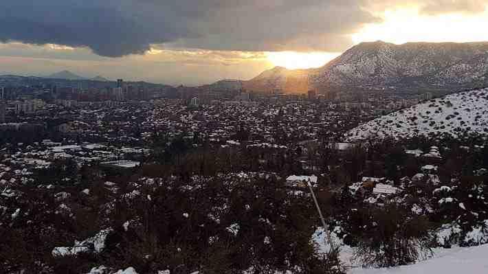 Mira en 360 algunas de las comunas que cubrió la nieve este fin de semana