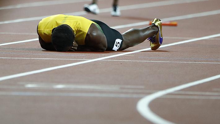 Triste y dramático final para Usain Bolt: El jamaiquino se lesionó en su última carrera como profesional