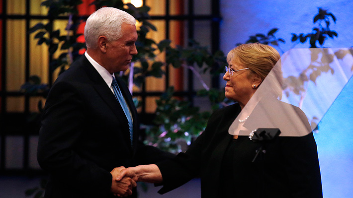 Vicepresidente Pence le pide oficialmente a Bachelet que corte relaciones con Corea del Norte