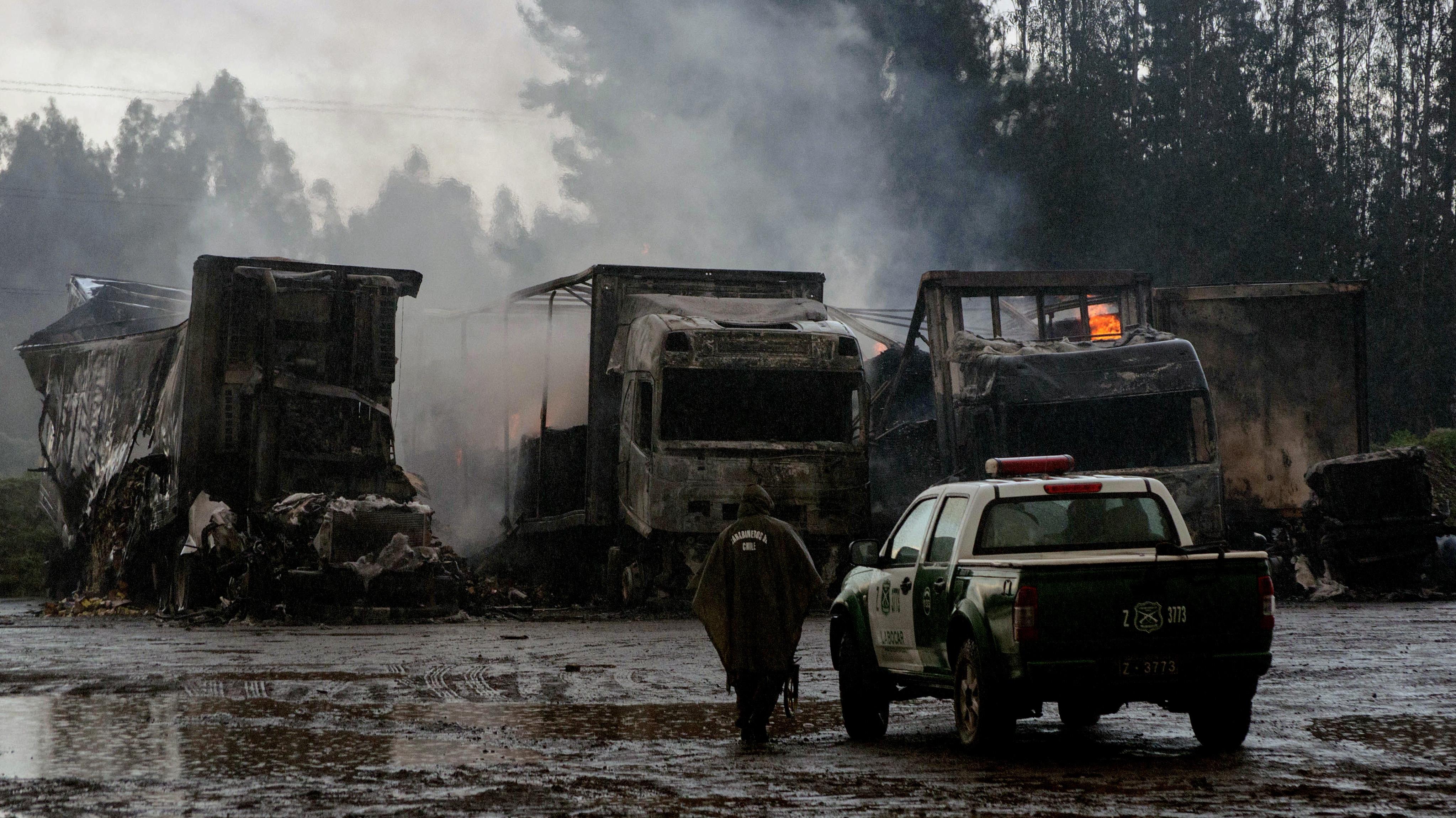 RN emplaza al Gobierno a querellarse por Ley Antiterrorista y vincula quema de camiones con juicio por caso Luchsinger