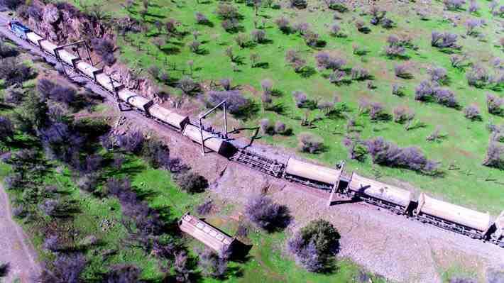 [VIDEO 360°] Mira cómo quedó el tren descarrilado que transportaba basura a Til Til