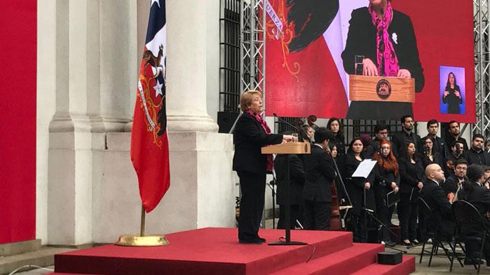 """Bachelet en ceremonia por 11 de Septiembre: """"No permitiré que el legítimo anhelo de justicia sea visto como revanchismo"""""""