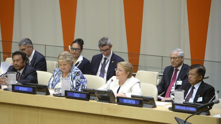 Presidenta Bachelet reafirma ante Naciones Unidas discurso que produjo quiebre con su ex equipo económico