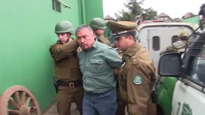 Detienen a Héctor Llaitul y a otros comuneros mapuche por quema de camiones en La Araucanía y Los Ríos, entre otros delitos