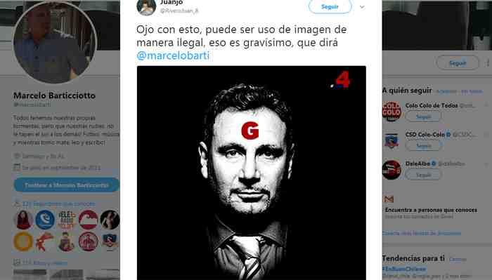 Comando de Guillier niega autoría en imagen de Barticciotto y asegura que se comunicó con el ex futbolista