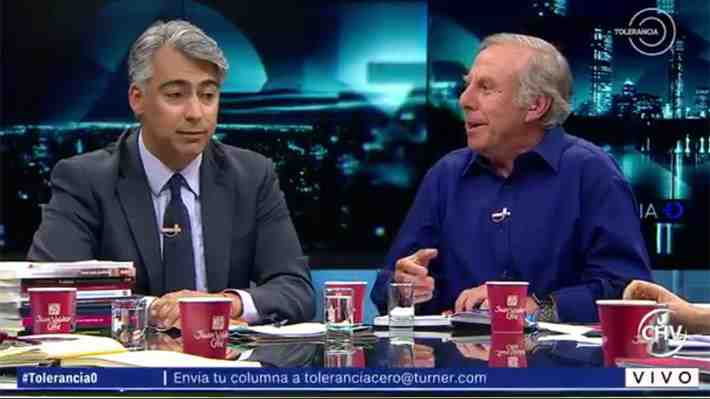 """¿Chilenismo o insulto? Paulsen le dice """"hueón"""" a ME-O en programa """"Tolerancia Cero"""" y genera debate."""