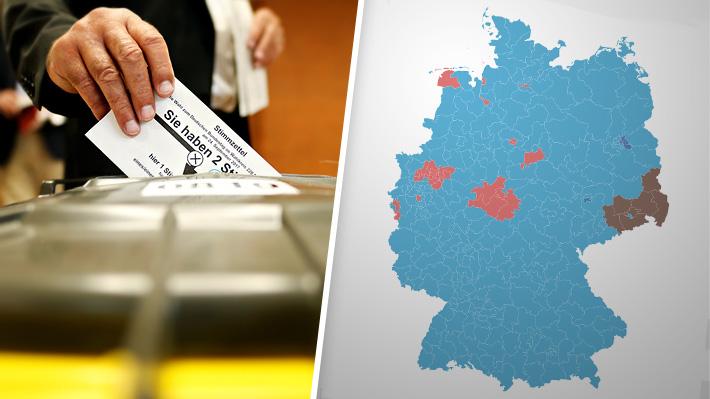 Mapa interactivo: Cómo se dibujó el nuevo triunfo de Merkel y el alza de la ultraderecha en Alemania