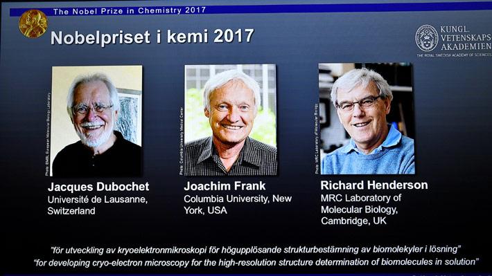 Entregan premio Nobel de Química 2017 a los creadores de la criomicroscopía electrónica