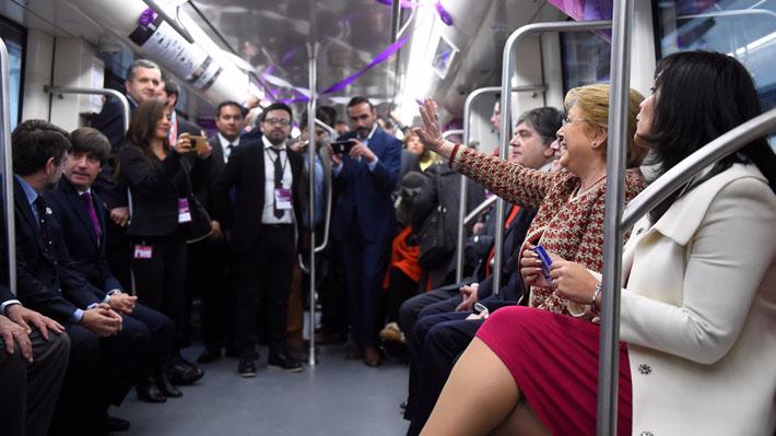 Apertura de la Línea 6: La trastienda del viaje inaugural de Bachelet por la nueva vía