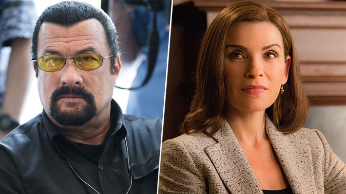 "Protagonista de ""The Good Wife"" acusa a Steven Seagal de acoso sexual"