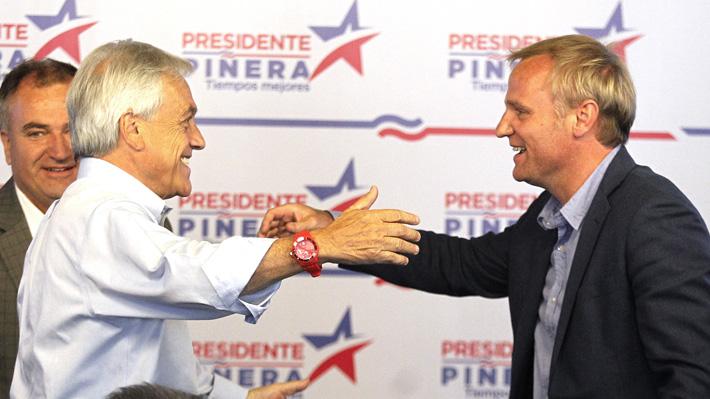 Felipe Kast llama a Piñera a avanzar en una agenda liberal y creer más en el Estado