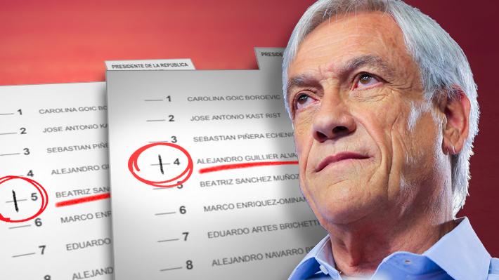 """Piñera acusa que en primera vuelta muchos votos estaban previamente marcados """"en favor de Guillier o de Sánchez"""""""