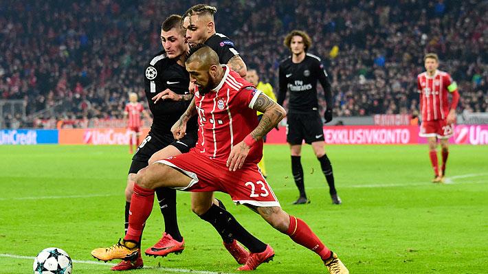 El Bayern de Vidal gana al PSG, pero no le alcanza para terminar en la punta de su grupo en la Champions
