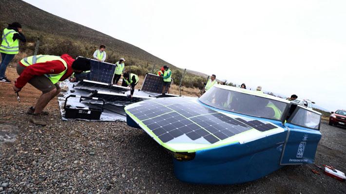 Las nubes jugaron en contra del auto solar que busca llegar a Arica