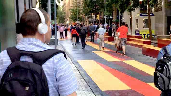 [VIDEO 360°] Artistas llenaron de color el nuevo paseo peatonal de calle Bandera