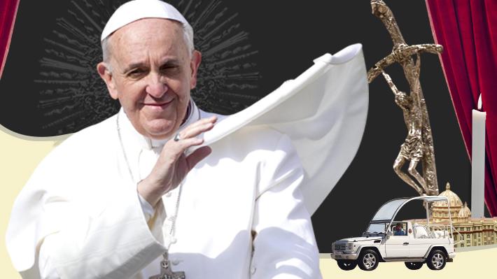 """Más de 30 km en """"papamóvil"""" y 15.000 voluntarios: Las cifras de la visita del Papa a Chile"""