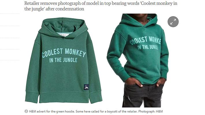 Conocida marca de vestuario sueca desata polémica por imagen en sus tiendas online de España y Reino Unido