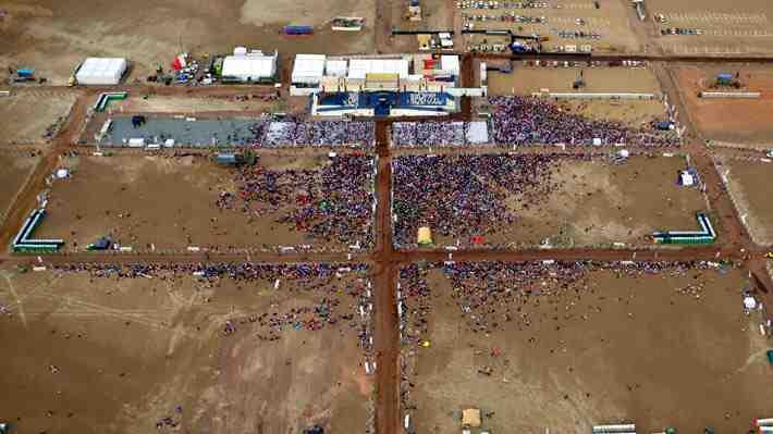 ¿A qué se debió el bajo número de asistentes en las actividades del Papa en Chile?