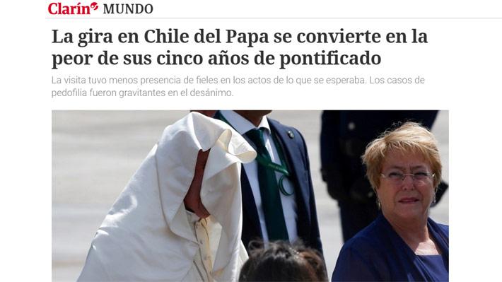 """Medios extranjeros evalúan visita del Papa y la comparan con su llegada a Perú: """"Gira por Chile es la peor de su pontificado"""""""
