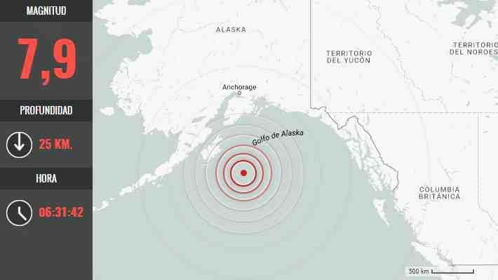Alerta de tsunami en Alaska tras un terremoto de magnitud 7,9
