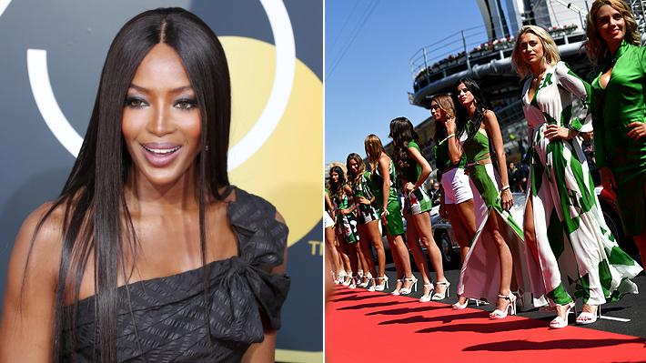 """Naomi Campbell defiende a las """"grid girls"""": """"No lo encuentro ofensivo"""""""