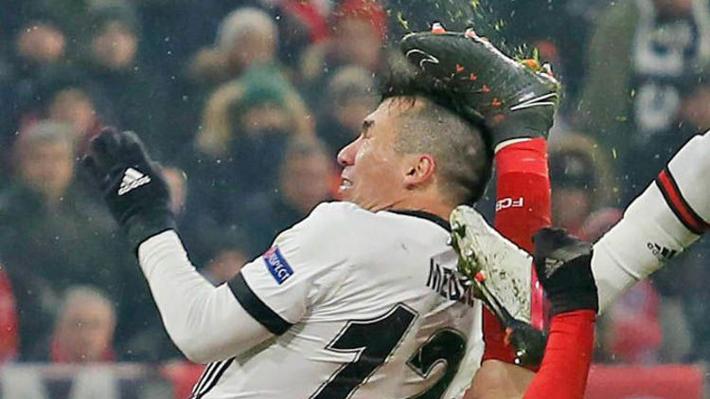 """Es un """"Pitbull"""": Mira la arriesgada acción de Medel ante el Bayern por la Champions"""