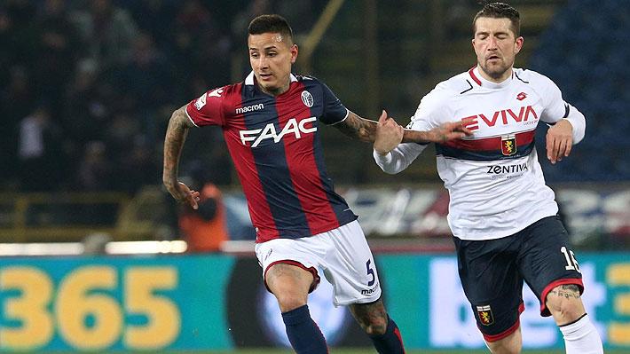 Erick Pulgar sigue ganando regularidad en el Bologna que sumó su segunda victoria consecutiva en el Calcio