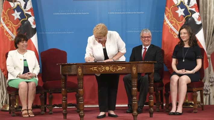 Presidenta firma proyecto que elimina el CAE y lo reemplaza con crédito estatal diferenciado por ingreso