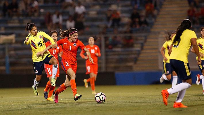 """La """"Roja"""" femenina sólo empató ante Colombia en un duelo preparatorio para la Copa América 2018"""